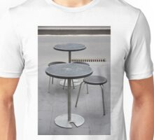Table and chairs Degraves lane Melbourne VIC AUS  Unisex T-Shirt