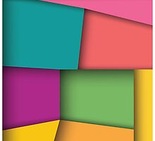 Abstract 3d square background, colorful tiles, geometric by BlueLela