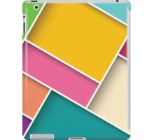 Abstract 3d square background, colorful tiles, geometric iPad Case/Skin