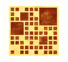 Nemissos V1 - painted squares Art Print