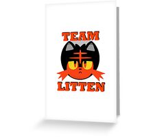 Team Litten Greeting Card