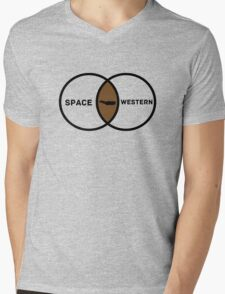Space Western?  Mens V-Neck T-Shirt