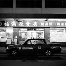 Taxi! Queen's Road West, Hong Kong by Matthew Walters