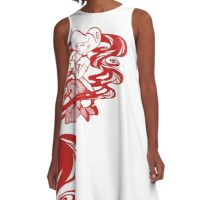 Woman in smoke - Red A-Line Dress