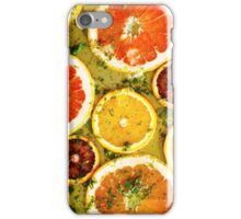 Ripe red oranges and grapefruits cut by rings iPhone Case/Skin
