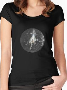 Spider Clutching Web T-Shirt Women's Fitted Scoop T-Shirt