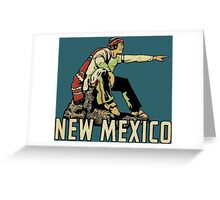 New Mexico NM State Vintage Travel Decal Greeting Card