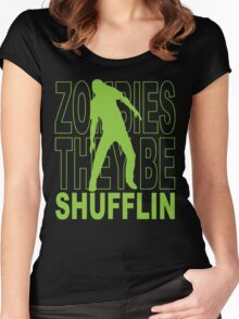 Zombies they be shufflin Women's Fitted Scoop T-Shirt