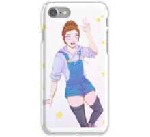 Starry-white background iPhone Case/Skin