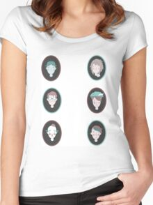 Odd family portrait Women's Fitted Scoop T-Shirt