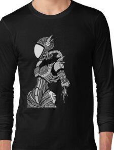 Cyborg girl - On black Long Sleeve T-Shirt