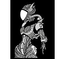 Cyborg girl - On black Photographic Print