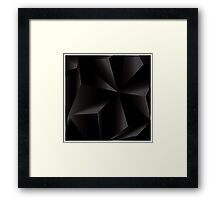 Abstract geometric vector background, 3d, black, template design elements Framed Print
