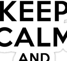 Keep Calm and eat Pi Sticker