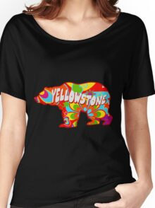 Tie Dye Yellowstone National Park Bear Women's Relaxed Fit T-Shirt