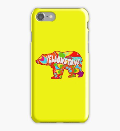 Tie Dye Yellowstone National Park Bear iPhone Case/Skin