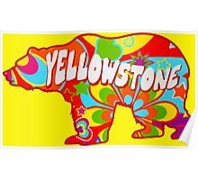 Tie Dye Yellowstone National Park Bear Poster