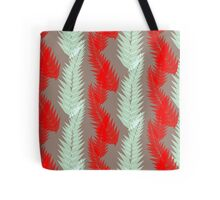 Botanicals - Fern in Jamaican Cherry (Abstract Print) Tote Bag