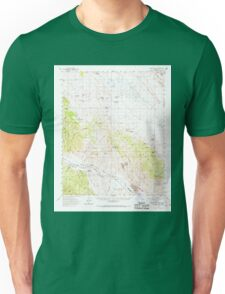 USGS TOPO Map California CA Caliente Mountain 296969 1959 62500 geo Unisex T-Shirt