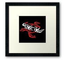 SCUBA DIVE Tribal Sea Turtle  Framed Print