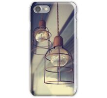 Low Angle View Of Pendant Lights Hanging From Ceiling iPhone Case/Skin