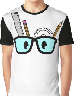 Stationery Nerd Colour Graphic T-Shirt