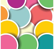 Abstract 3d circle background, colorful pattern design by BlueLela