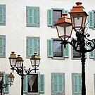 Streetlights in Chamonix (France) by Arie Koene
