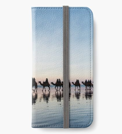 Camel Train at Sunset iPhone Wallet