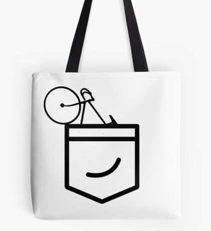 Fixie in the Pocket Tote Bag