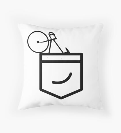 Fixie in the Pocket Throw Pillow
