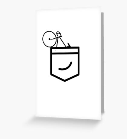 Fixie in the Pocket Greeting Card