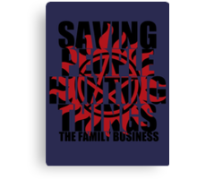 Supernatural - Saving People, Hunting Things  Canvas Print