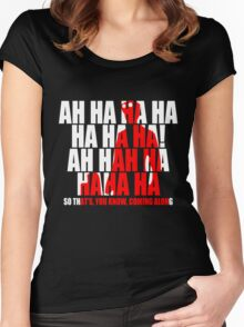 Dr Horrible Laugh  Women's Fitted Scoop T-Shirt