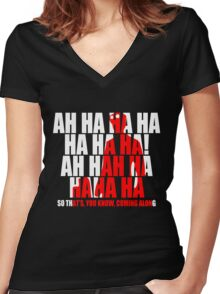Dr Horrible Laugh  Women's Fitted V-Neck T-Shirt