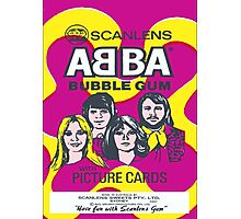 ABBA Scanlens Trading Cards Wrapper Prints Photographic Print