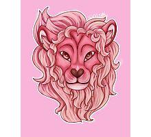 Lion [steven universe] flowerless Photographic Print