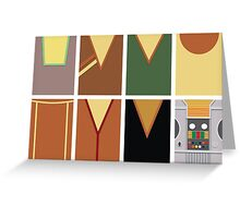 Screen Uniforms - Lost In Space - The Crew -Style 1 Greeting Card