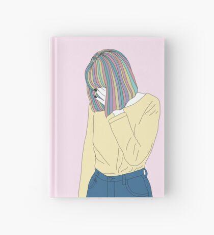 Grunge Girl Rainbow Hair Hardcover Journal