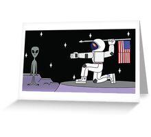 Space Hunter Greeting Card