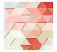 Abstract geometric colorful background, 3D, pattern design elements Photographic Print