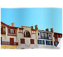 Sea Front Houses - Hoosegor, France. Poster