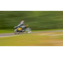 The Abstract Motorcyclist Photographic Print
