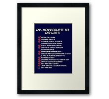 Dr. Horrible's To Do List  Framed Print