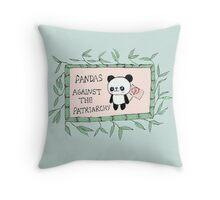 Pandas against the Patriarchy Throw Pillow