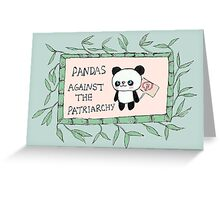 Pandas against the Patriarchy Greeting Card
