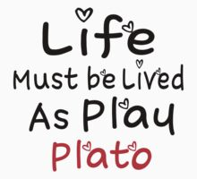 ╚»★Plato's Motivational Quote Clothing & Stickers & Cases & Tote Bags & Home Decor & Stationary★«╝ Kids Tee
