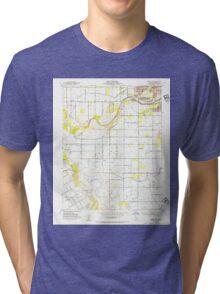USGS TOPO Map California CA Brush Lake 288639 1953 24000 geo Tri-blend T-Shirt
