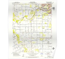 USGS TOPO Map California CA Brush Lake 288639 1953 24000 geo Poster