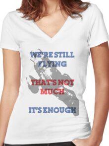 We're Still Flying Women's Fitted V-Neck T-Shirt